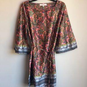 NWT Loft paisley print kimono style dress